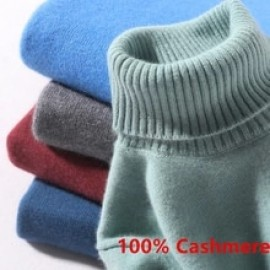 100% Cashmere Turtleneck Men Sweater 2020 Autumn Winter Knitwear Warm Mens Clothes Ropa Hombre Pull Homme Pullover Jumper