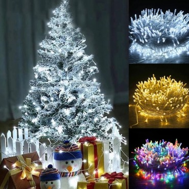 10M Outdoor Christmas LED String Light Garlands 8 Modes LED Decoration Fairy Lights For Home Wedding Party Garden Holiday Lights