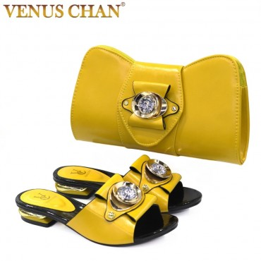 2020 New blue Matching Shoes and Bag Set In Heels African Shoes and Matching Bags Italian Pumps Matching Shoe and Bag Set