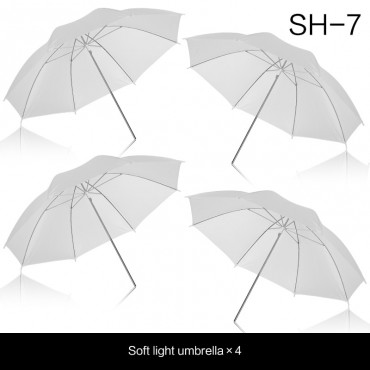 """4 Pack 33""""/83cm White Translucent Soft Umbrella for Photo and Video Studio Shooting"""