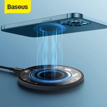 Baseus Magnetic Wireless Charger For iPhone 12 Pro Max Fast Charger For iPhone 12 11 XS X XR Charger For Airpods Visible Qi