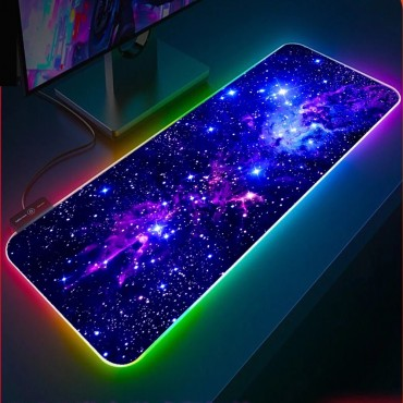 Blue Star Rgb Mouse Pad XXL Computer Keyboard Carpet Pad Gaming Accessories LED Gamer PC Connected Mat USB Gaming Desk Mousepad