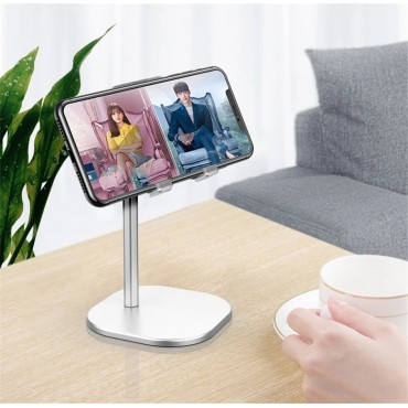 Cell Phone Stand for Desk Angle Height Adjustable Liftable Phone Holder Compatible with All Mobile Phones,iPhone iPad