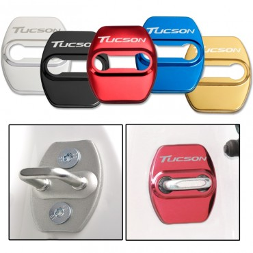 Door Lock Decoration Protection Cover emblem case for hyundai tucson accessories car styling
