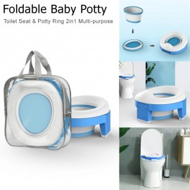 Foldable Baby Potty Toilet Seat Baby Travel Toilet for Boy Baby Girl Portable Toilet Training Seat Multi-purpose Baby Potty Ring
