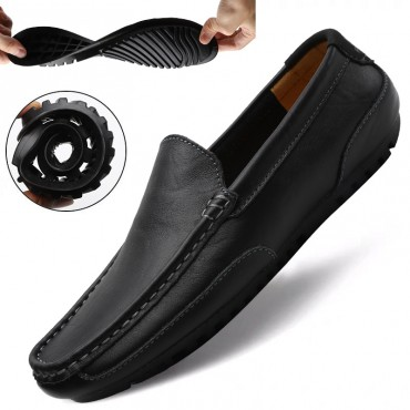 Leather Men Shoes Luxury Trendy 2020 Casual Slip on Formal Loafers Men Moccasins Italian Black Male Driving Shoes Sneakers