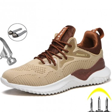 New Sport Safety Shoes Men Indestructible Work Shoes Boots Lightweight Work Sneakers Male Steel Toe Shoes Anti Puncture Boots