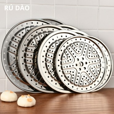 Stainless Steel Steamer Slice Insert Cover Thick Steaming Frame Tray Rack Cooker Steaming Stand Kitchenware 24cm 26cm 28cm 30cm